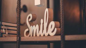 Превью обои улыбка, слово, декор, украшение