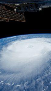 Превью обои ураган, мкс, земля, облака, стихия