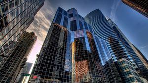 Превью обои usa, город, америка, chicago, штаты, чикаго, дома, небоскребы, сша, hdr