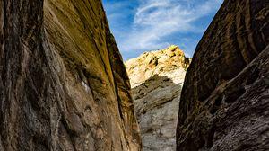Превью обои ущелье, каньон, скалы, каменный