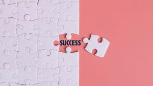 Превью обои успех, слово, пазл, надпись