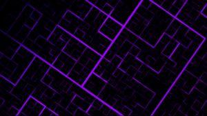 Превью обои узор, геометрический, линии, фиолетовый, темный