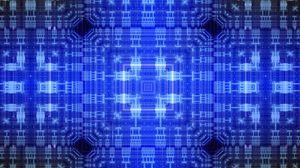 Превью обои узор, квадраты, линии, абстракция, синий