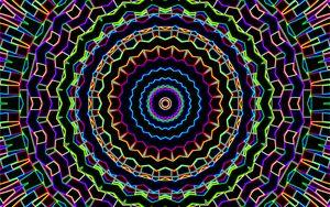 Превью обои узор, линии, абстракция, разноцветный, черный