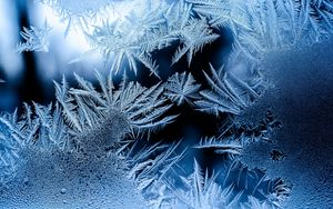 Превью обои узор, мороз, иней, стекло