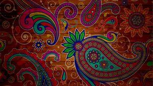 Превью обои узоры, текстура, фон, красочный