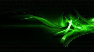 Превью обои узоры, зеленый, свет, темный