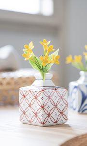 Превью обои ваза, цветы, декор, эстетика