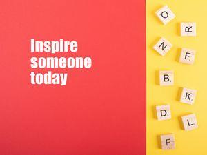 Превью обои вдохновение, фраза, слова, позитив, красный