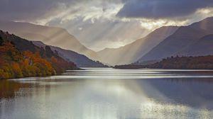 Превью обои великобритания, ледниковое озеро, уэльс, графство гвинед, регион сноудония
