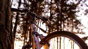 Превью обои велосипед, солнечный свет, лето
