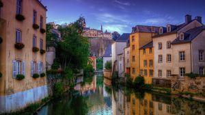 Превью обои венеция, дома, река, венецианский канал