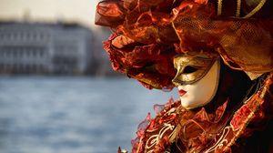 Превью обои венеция, карнавал, маска, наряд