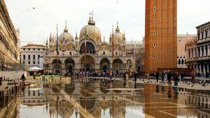 Превью обои венеция, площадь сан марко, собор святого марка