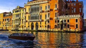 Превью обои венеция, канал, италия, лодка