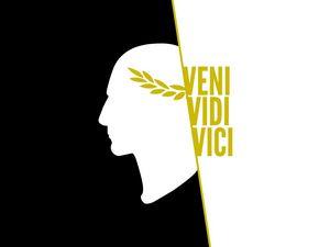 Превью обои veni vidi vici, юлий цезарь, арт