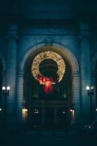 Превью обои венок, рождество, новый год, украшение, декорация