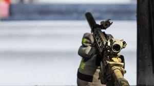 Превью обои винтовка, оружие, полигон, стрельбище, армия