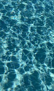 Превью обои вода, волны, блики, синий