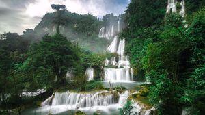 Превью обои водопад, ти ло су, тайланд, каскад