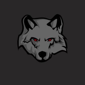 Превью обои волк, стикер, арт, хищник