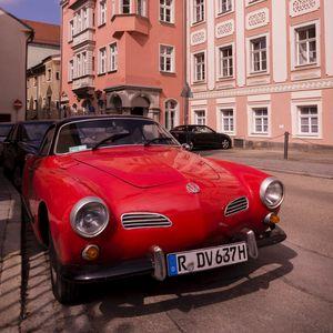 Превью обои volkswagen, автомобиль, красный, ретро