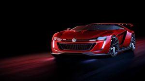 Превью обои volkswagen, gti, roadster, красный, вид спереди