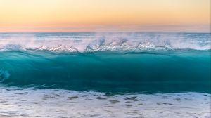 Превью обои волна, море, прибой, вода, брызги, пена