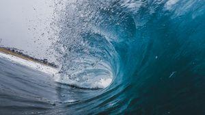 Превью обои волна, океан, брызги