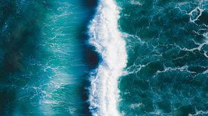 Превью обои волна, прибой, океан, пена