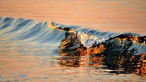 Превью обои волна, вода, прибой, море, волнистый