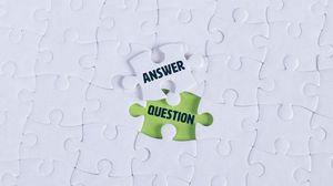 Превью обои вопрос, ответ, пазл, слова