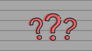 Превью обои вопрос, знак вопроса, символ, линии, полосы