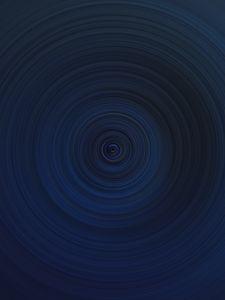 Превью обои воронка, круги, абстракция, синий, темный