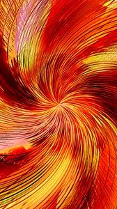 Превью обои воронка, линии, абстракция, оранжевый