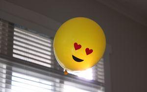 Превью обои воздушный шарик, смайлик, улыбка, счастье, любовь