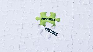 Превью обои возможно, невозможно, пазл, слова