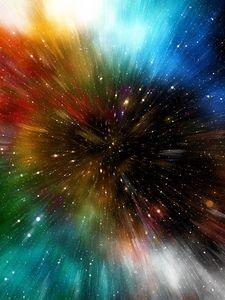 Превью обои вселенная, галактика, разноцветный, погружение