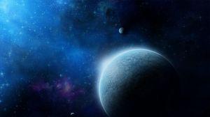 Превью обои вселенная, планеты, галактика, звезды, туманность