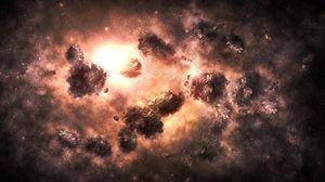 Превью обои вселенная, туманность, взрыв, свет