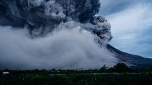 Превью обои вулкан, взрыв, извержение