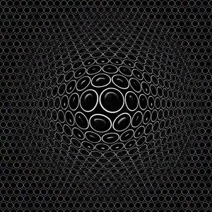 Превью обои выпуклый, рельефный, реалистичный, 3d, круги, черный
