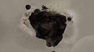 Превью обои взрыв, формы, темный