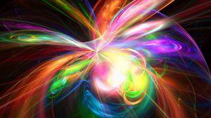 Превью обои взрыв, радужный, красочный, краски