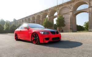 Превью обои wheels, бмв, e92, bmw, красный, m3, купе, red