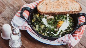 Превью обои яичница, хлеб, овощи
