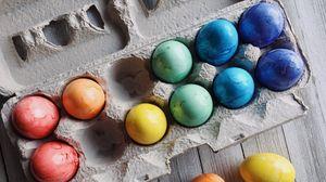 Превью обои яйца, пасха, крашенный, разноцветный