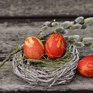 Превью обои яйца, пасха, верба, декорирование
