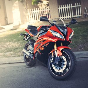 Превью обои ямаха, yzf-r6, red, motorcycle, yamaha, красный