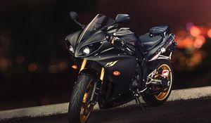 Превью обои yamaha, yzf-r1, ямаха, спортивный мотоцикл